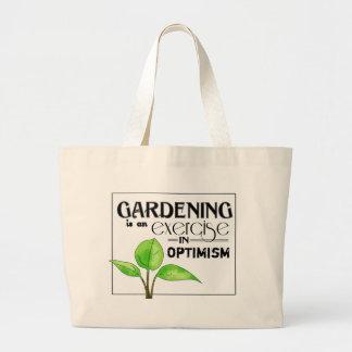 El cultivar un huerto es un ejercicio en optimismo bolsa de tela grande