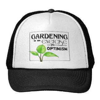 El cultivar un huerto es un ejercicio en optimismo gorros bordados