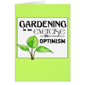 El cultivar un huerto es un ejercicio en optimismo felicitaciones