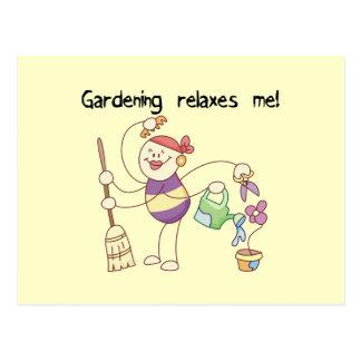 El cultivar un huerto me relaja las camisetas y tarjetas postales
