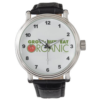 El cultivar un huerto orgánico relojes de pulsera