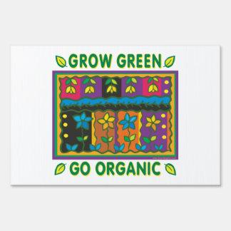 El cultivar un huerto orgánico señal