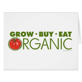 El cultivar un huerto orgánico tarjeta de felicitación grande