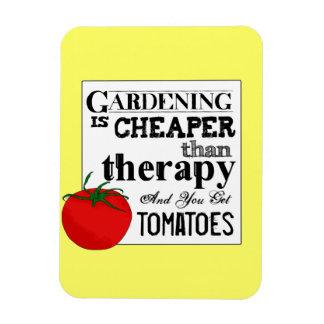 El cultivar un huerto = terapia + Tomates Imán Rectangular