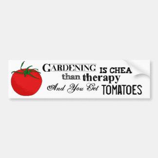 El cultivar un huerto = terapia + Tomates Pegatina Para Auto