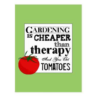 El cultivar un huerto = terapia + Tomates Postal
