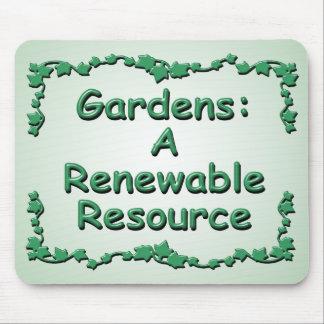 El cultivar un huerto: Un recurso renovable Alfombrillas De Ratón
