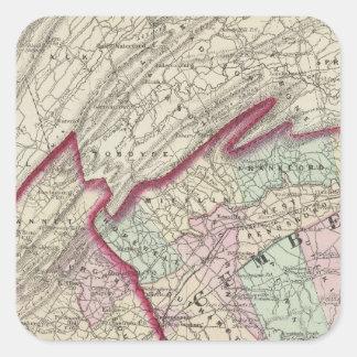 El Cumberland, Franklin, condados de Adams Calcomania Cuadradas Personalizadas
