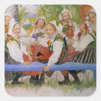 El cumpleaños 1909 de Kersti Pegatina Cuadrada
