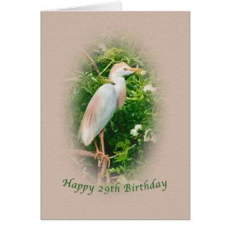 El cumpleaños, 29no, pájaro del Egret de ganado se Tarjeta De Felicitación
