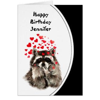 El cumpleaños abraza y besa personalizado del tarjeta de felicitación