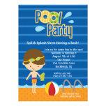 El cumpleaños azul de la fiesta en la piscina de l