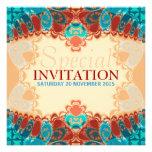 El cumpleaños cuadrado exótico/el Special del bati Invitaciones Personalizada