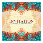 El cumpleaños cuadrado exótico/el Special del Invitaciones Personalizada
