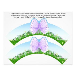 El cumpleaños de 2 mariposas personaliza las envol tarjetas publicitarias