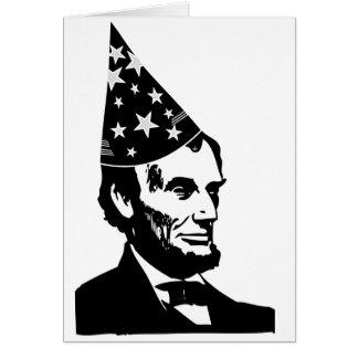 El cumpleaños de Abraham Lincoln Felicitación
