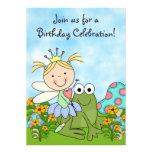 El cumpleaños de hadas rubio de la princesa y de l invitacion personalizada
