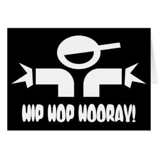 El cumpleaños de Hip Hop desea la tarjeta