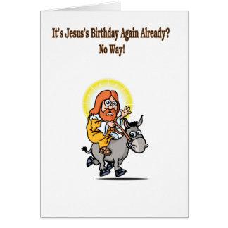 El cumpleaños de Jesús Tarjeta De Felicitación