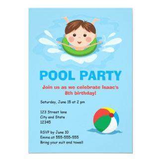 El cumpleaños de la fiesta en la piscina de los anuncio