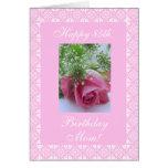 El cumpleaños de la madre subió tarjeta de felicitación