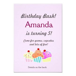 """El cumpleaños de la magdalena invita invitación 3.5"""" x 5"""""""