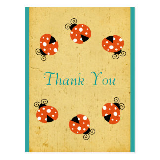 El cumpleaños de la mariquita le agradece tarjeta postal