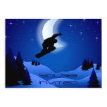 El cumpleaños de la montaña de la snowboard de la invitación 12,7 x 17,8 cm