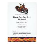 El cumpleaños de la motocicleta invita invitación 12,7 x 17,8 cm