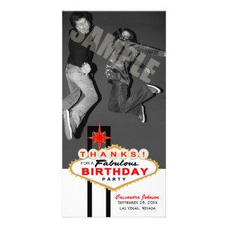 El cumpleaños de la muestra de Las Vegas le Tarjeta Fotográfica Personalizada