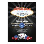 """El cumpleaños de la noche del casino de Las Vegas Invitación 5"""" X 7"""""""