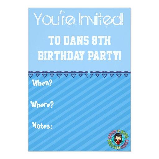"""¡El cumpleaños de la página del colorante invita! Invitación 5"""" X 7"""""""