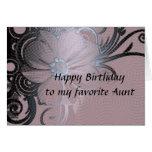 El cumpleaños de la tía tarjetas