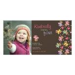 el cumpleaños de las magdalenas de la cereza dulce tarjeta fotográfica personalizada