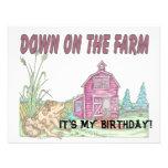 El cumpleaños de los niños de la granja anuncios