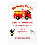 El cumpleaños de los niños del coche de bomberos comunicados