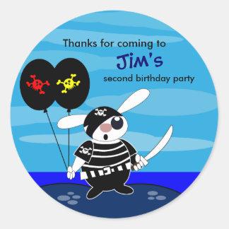 El cumpleaños de los niños le agradece pegatina: pegatina redonda