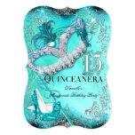 """El cumpleaños de Quinceanera de la mascarada de la Invitación 5"""" X 7"""""""
