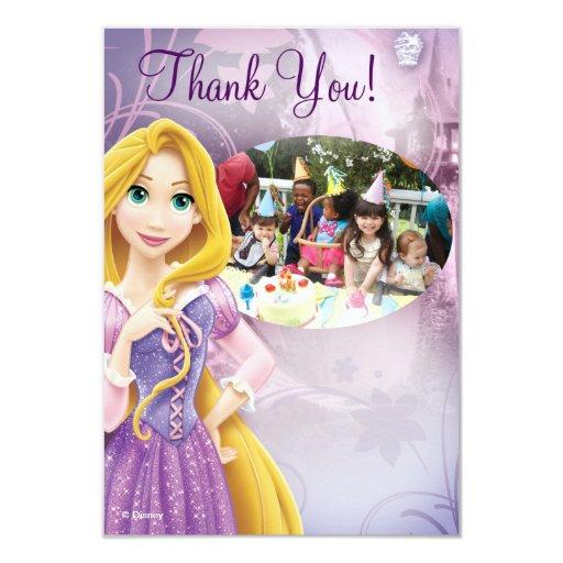 El cumpleaños de Rapunzel le agradece las tarjetas Invitación