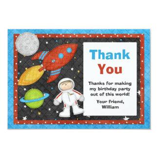 """El cumpleaños de Rocket de espacio del astronauta Invitación 3.5"""" X 5"""""""