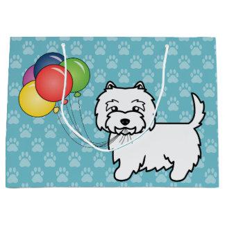 El cumpleaños de Terrier blanco de montaña del Bolsa De Regalo Grande