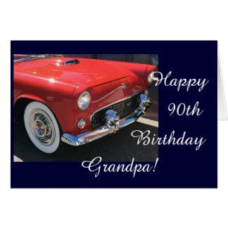 El cumpleaños del abuelo - coche antiguo tarjeta de felicitación