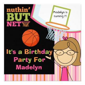 El cumpleaños del baloncesto del chica del pelo de comunicado personalizado