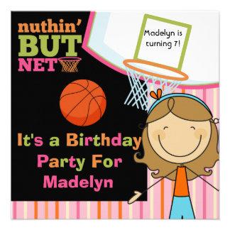 El cumpleaños del baloncesto del chica del pelo de anuncio personalizado
