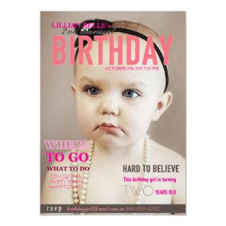 """El cumpleaños del chica adaptable invita a la invitación 5"""" x 7"""""""