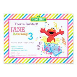 """El cumpleaños del chica de Elmo Invitación 5"""" X 7"""""""