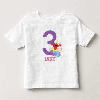 El cumpleaños del chica de Elmo Playera De Bebé