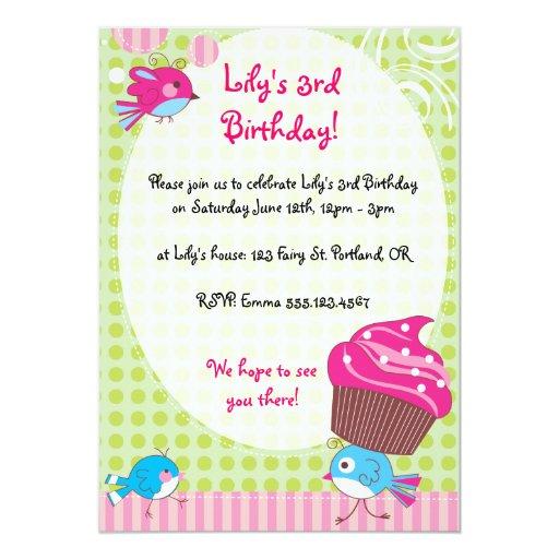 El cumpleaños del chirrido de la magdalena invita invitaciones personales