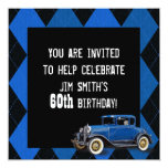 El cumpleaños del coche del vintage invita comunicados