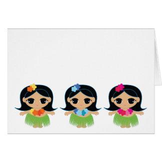 el CUMPLEAÑOS del cutie del hula le agradece 2 Tarjeta Pequeña